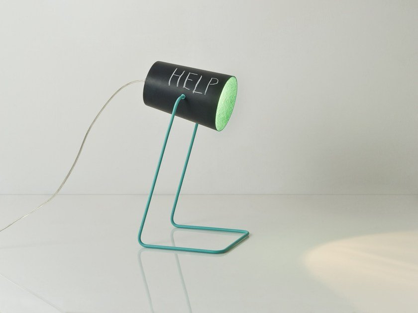 Resin table lamp PAINT T LAVAGNA by In-es.artdesign