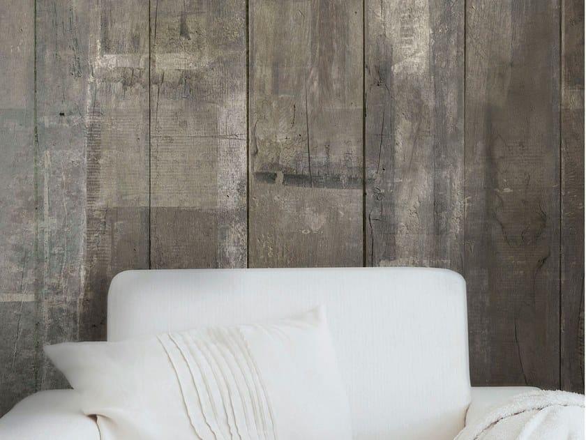 Wood effect fire retardant Digital printing wallpaper PAINTED WOOD by Tecnografica Italian Wallcoverings