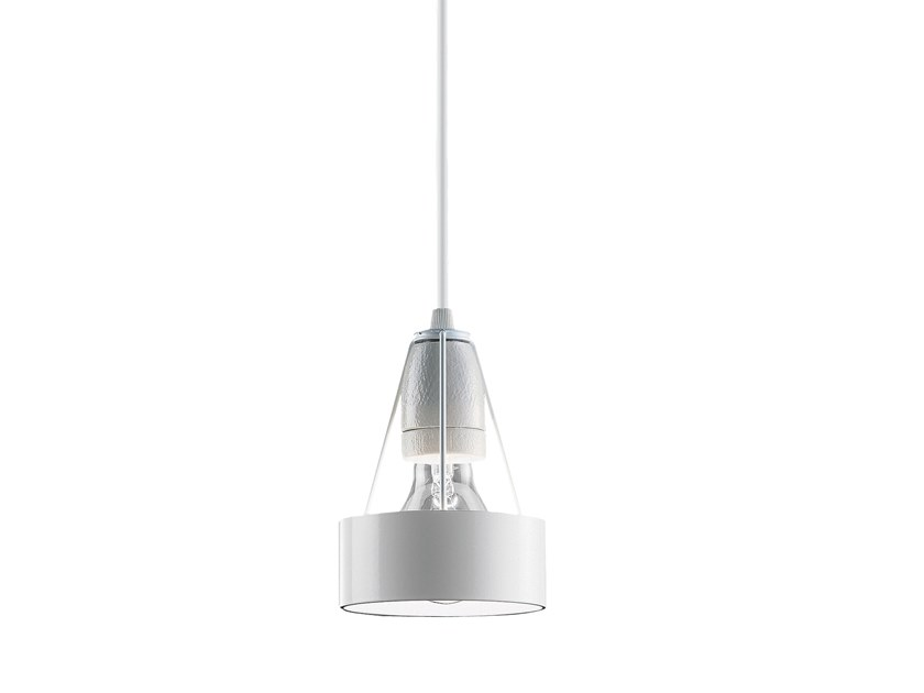 Direct-indirect light steel pendant lamp PAKHUS by Louis Poulsen