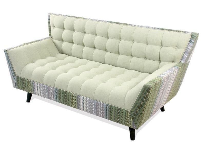 Tufted 2 seater fabric sofa PALASH by ALANKARAM