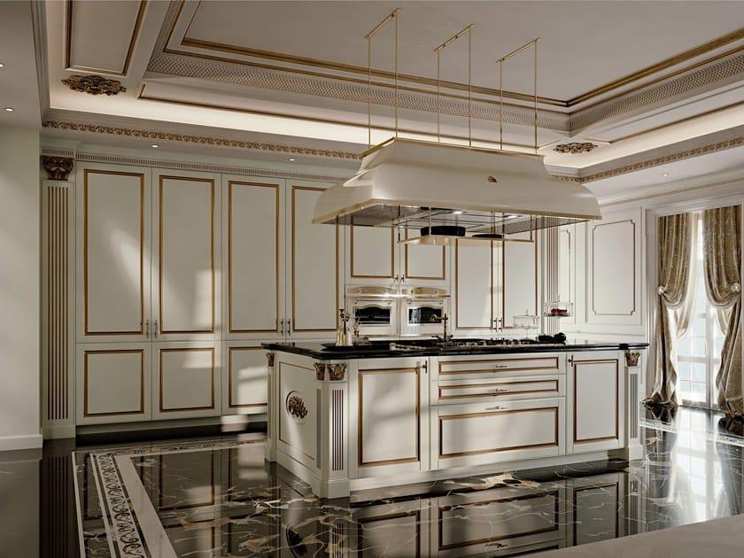 Cucina componibile laccata in legno DIAMOND By SCIC design Leo ...