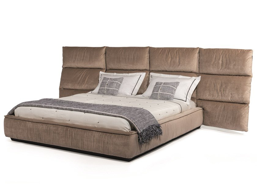 Double bed with upholstered headboard PALAU LARGE by Visionnaire