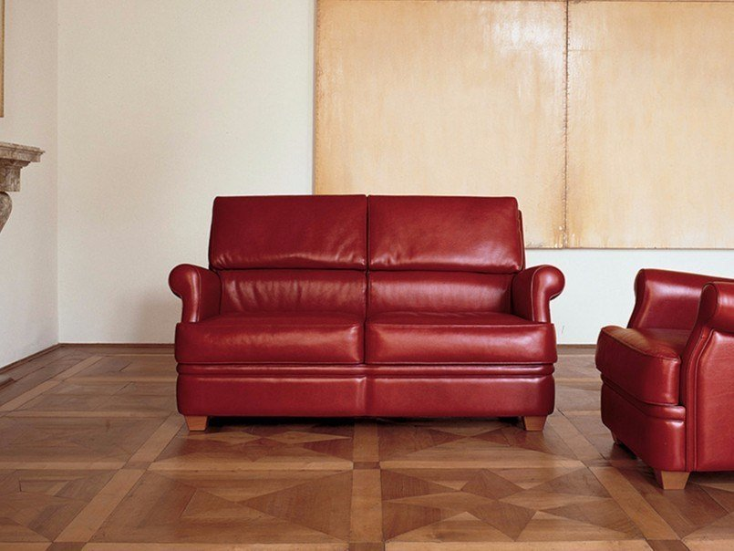 2 Seater Leather Sofa Bed Palco By Mascheroni