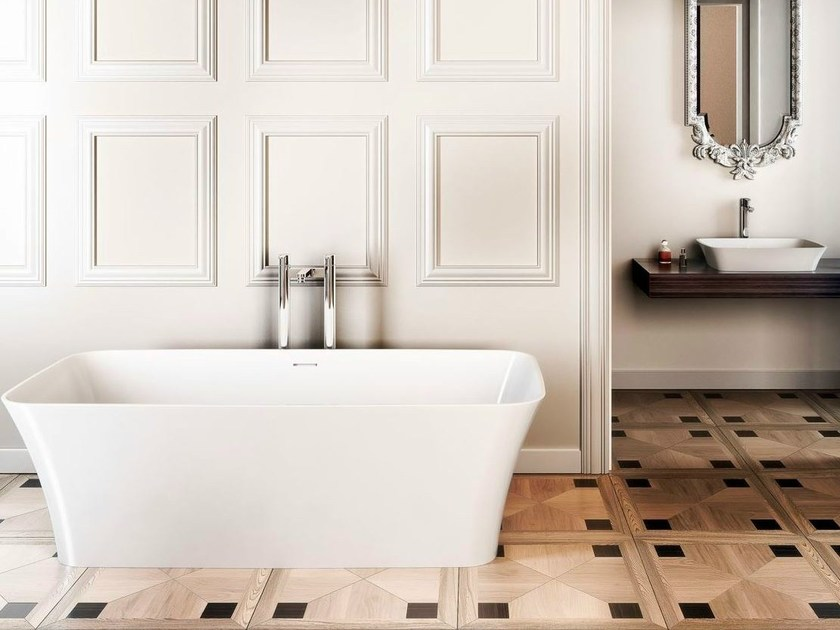 Freestanding rectangular bathtub PALERMO | Bathtub by Polo