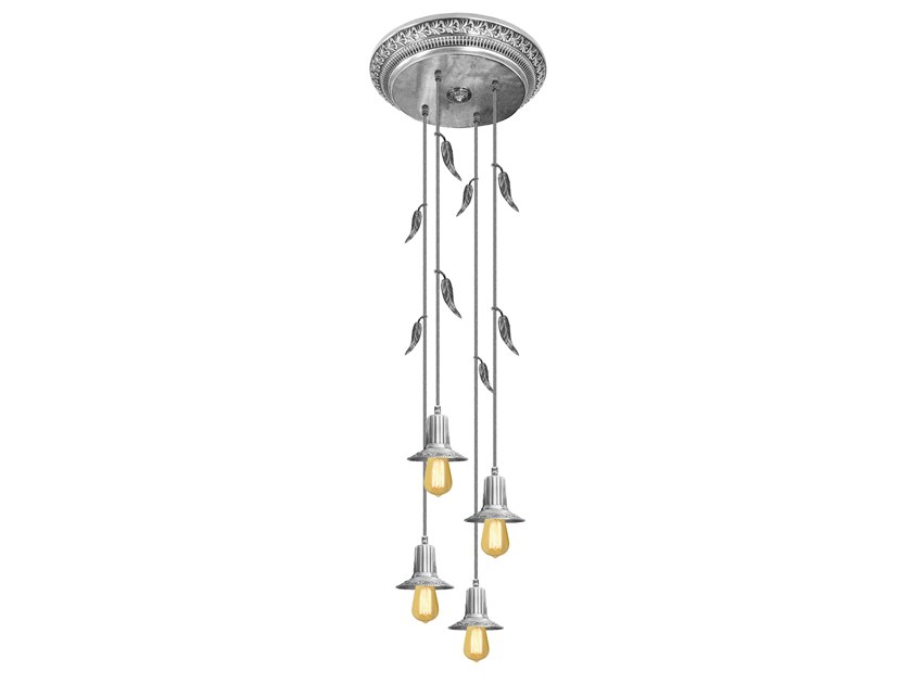 Brass ceiling lamp PALERMO I GLASS & EDISON | Ceiling lamp by FEDE