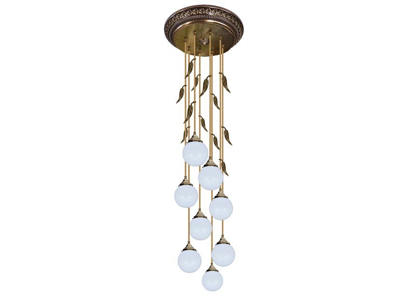Brass ceiling lamp PALERMO II | Ceiling lamp by FEDE