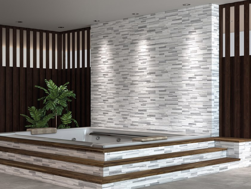 Indoor/outdoor 3D Wall Tile PALISSANDRO 3D by Ceramica Rondine