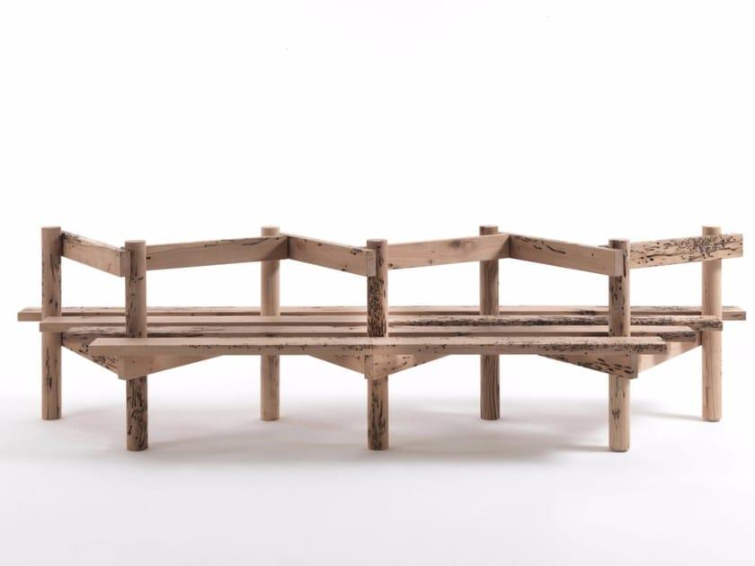 Briccola wood bench PALIZZATA by Riva 1920