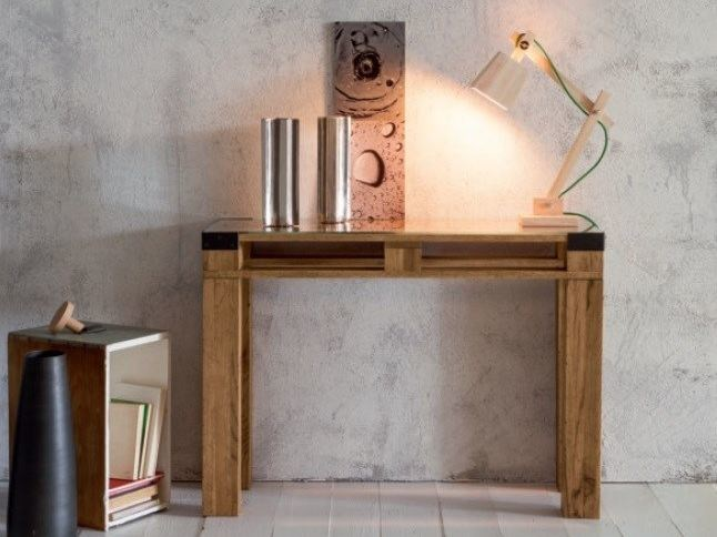 Rectangular custom wooden console table PALLET | Wooden console table by Devina Nais