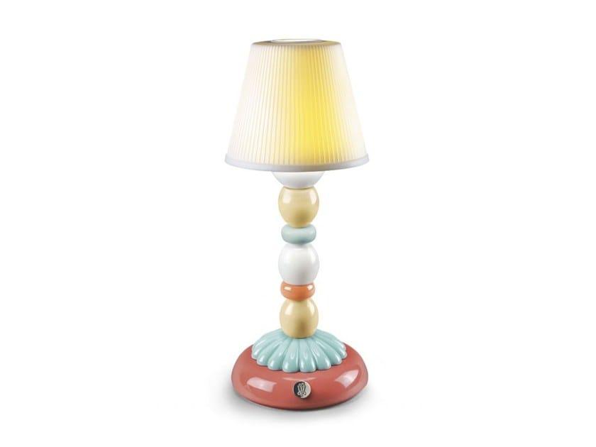 Lampada da tavolo PALM FIREFLY - CELESTE by Lladró