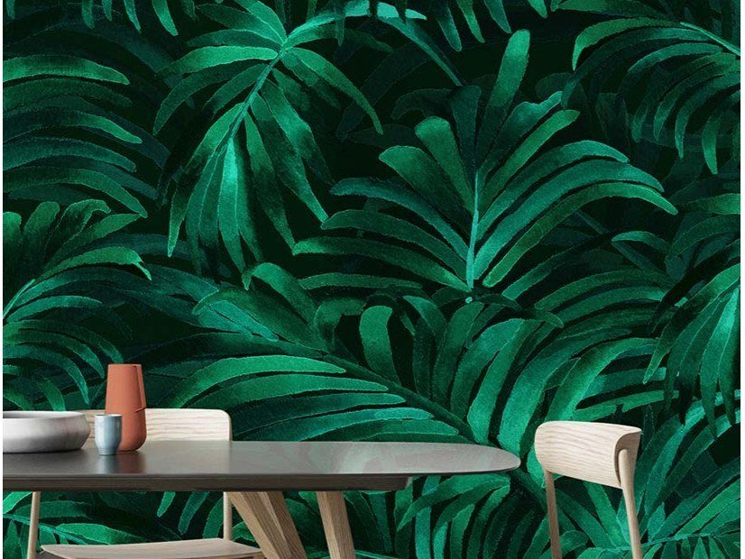 Papel de parede ecológico lavável livre de PVC PALM PLETHORA by Wallpepper Group