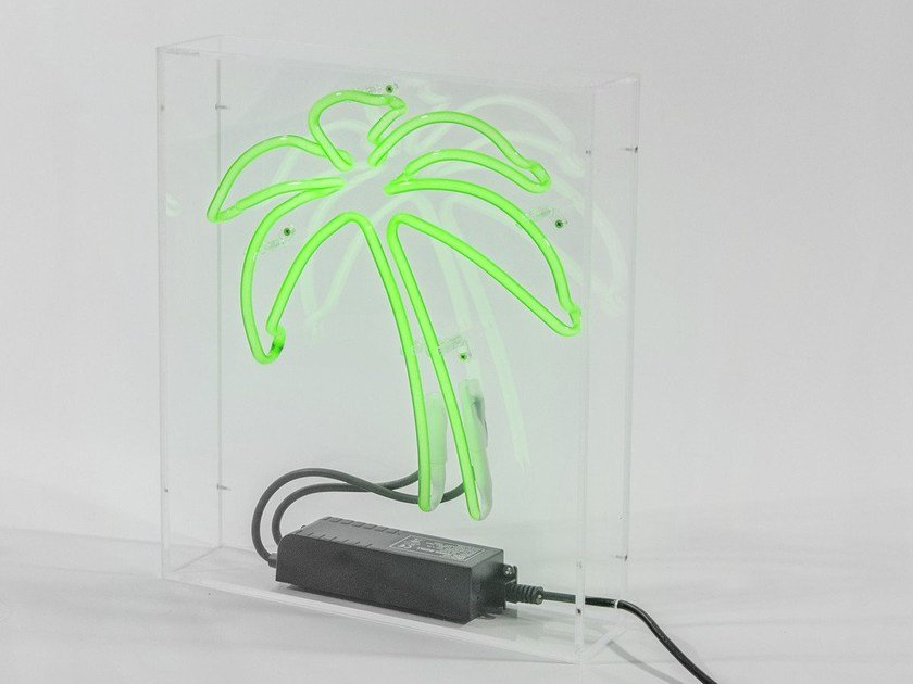 Sygns Neon Tavolo Al Palm Tree Lampada Da vN8nm0w