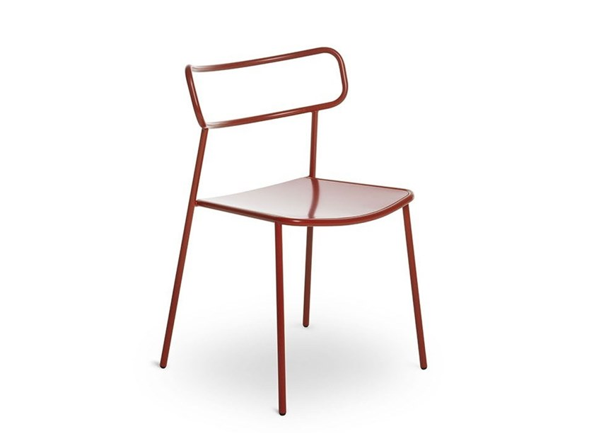Stackable metal chair PALOMA by BALERI ITALIA