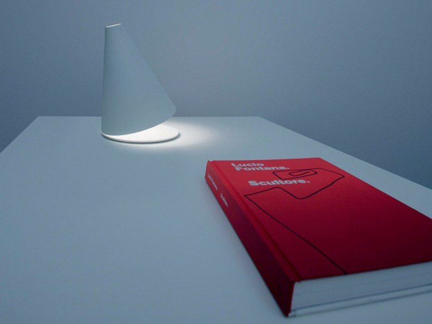 Halogen metal table lamp with dimmer PALPEBRA by DAVIDE GROPPI