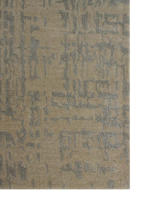 Patterned rug PALS TAQ-266 Linen/Silver Gray by Jaipur Rugs