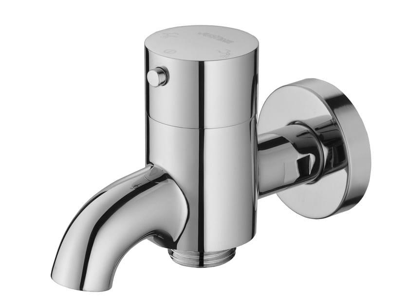 Wall-mounted single handle chromed brass washbasin mixer PAN I | Wall-mounted washbasin tap by JUSTIME