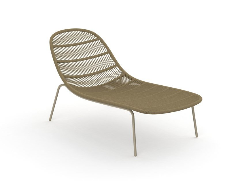 Chaise longue in corda PANAMA | Chaise longue by Talenti