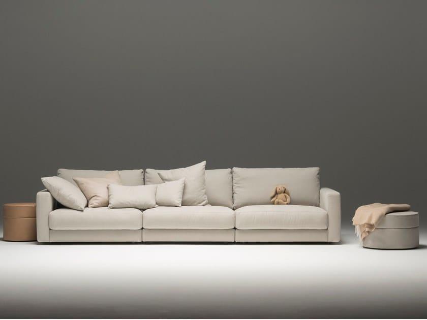 3 seater fabric sofa PANAMA by Sitzfeldt