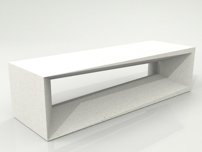 Backless Bench with Integrated Lighting PANCA LAMP by Manufatti Viscio