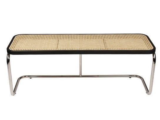 Lacquered beech and natural cane bench PANCHINA by The Socialite Family