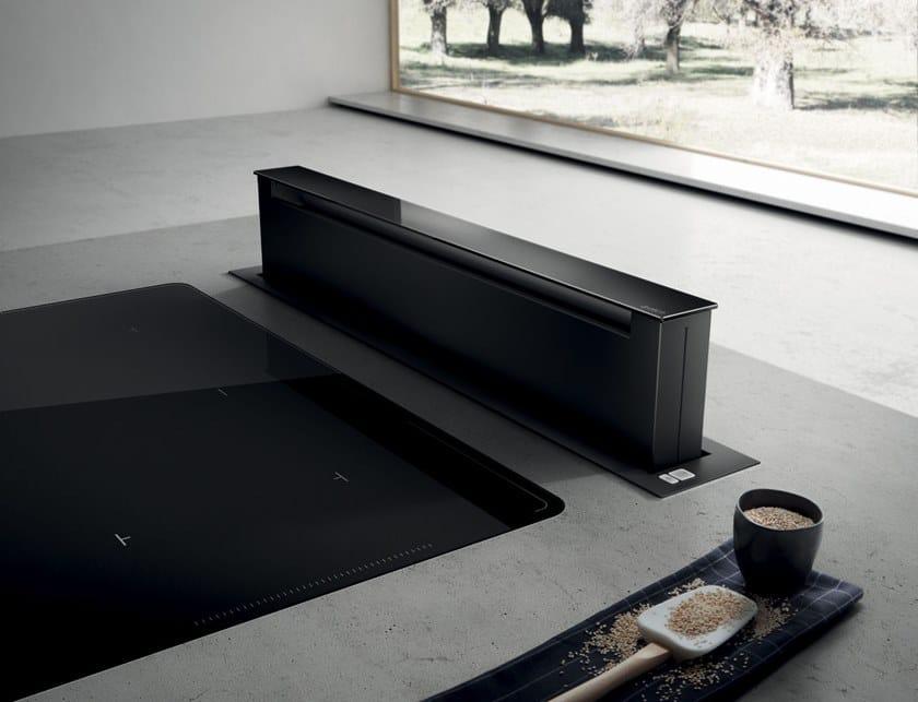 Cappa da piano estraibile in acciaio inox PANDORA By Elica design ...