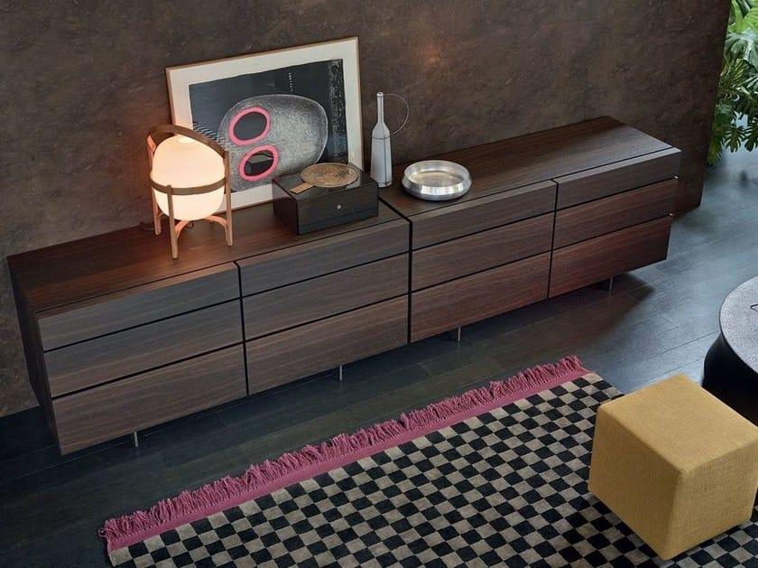Oak chest of drawers PANDORA NIGHT by poliform