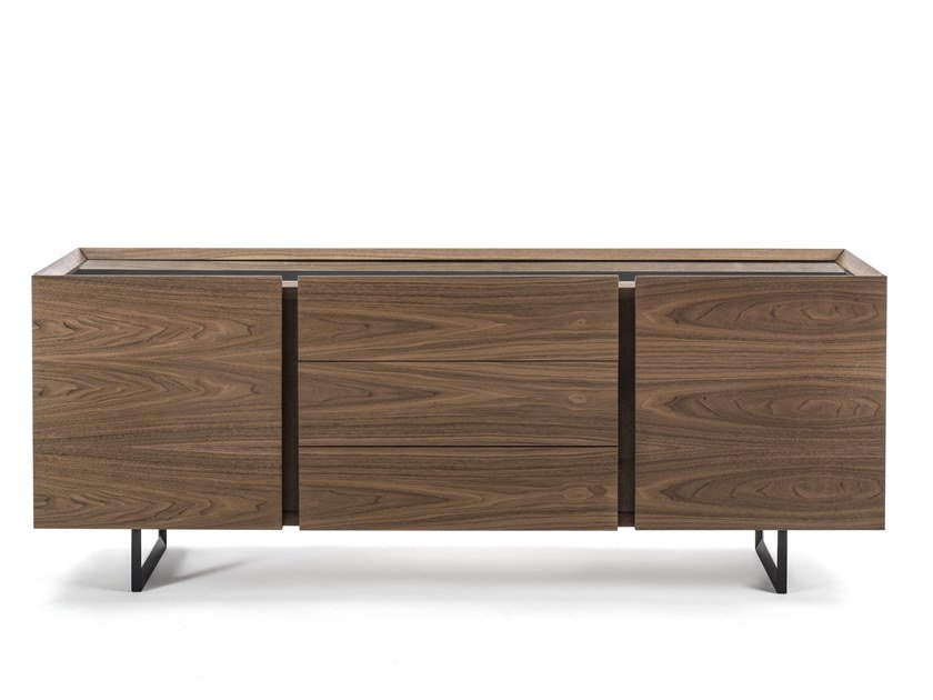Wooden sideboard with doors PANDORA UP SMALL by Riva 1920