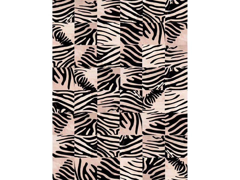 Custom cowhide rug PANEL PRINT by Miyabi casa
