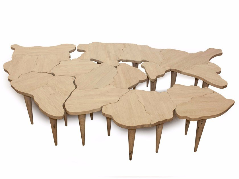 Solid wood table PANGEA by Riva 1920