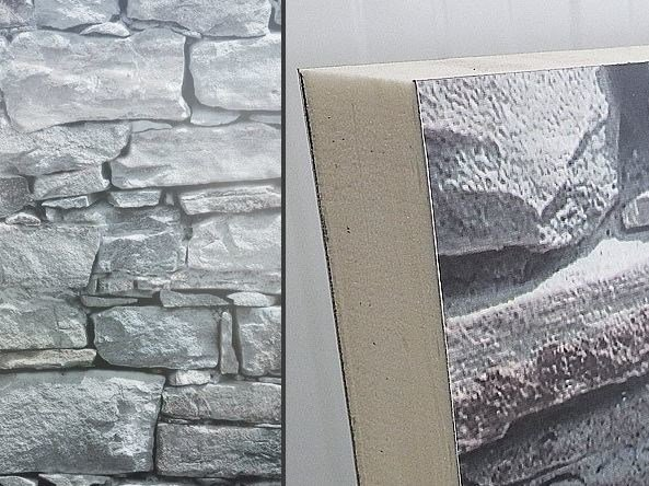 Panel for facade / thermal insulation panel PIETRA by ITALPANNELLI