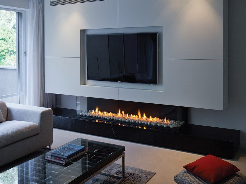 Gas 3 Sided Built In Fireplace Panorama 150 By British Fires