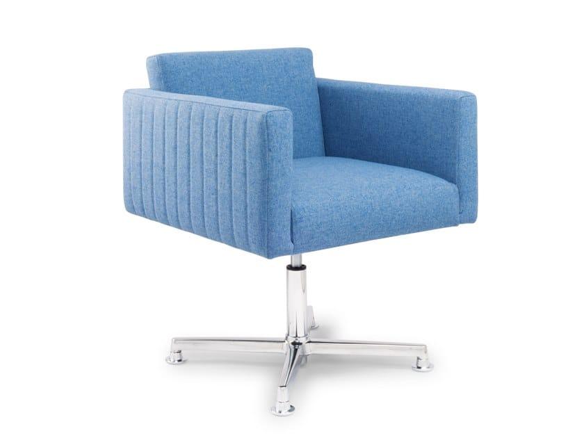 Swivel easy chair with 4-spoke base PANTAREI TECNO by Riccardo Rivoli