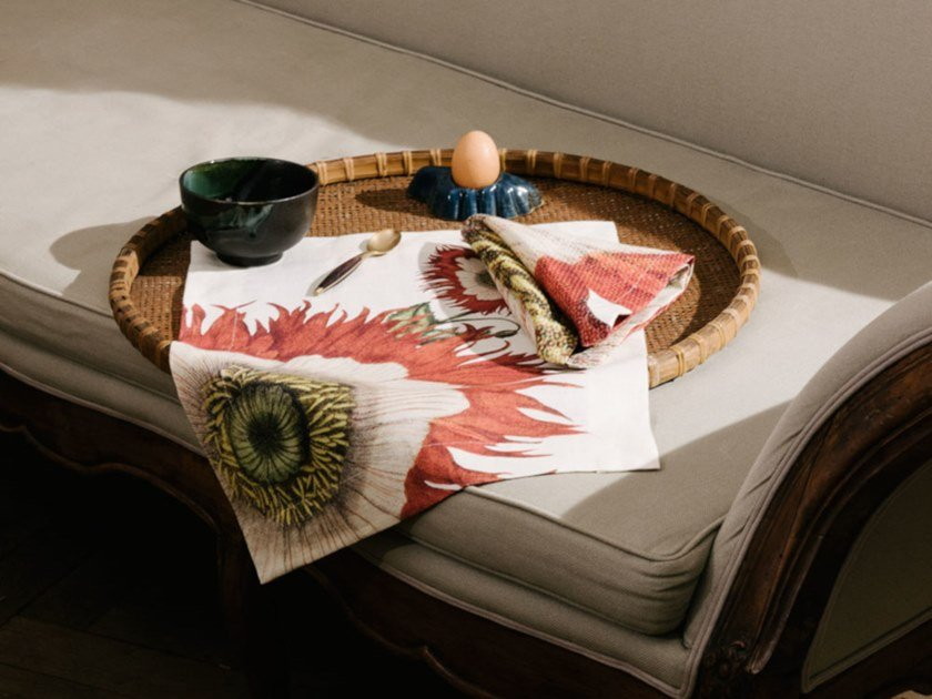 Breakfast set (6 placemats + 6 napkins) PAPAVER | Placemat by The NapKing