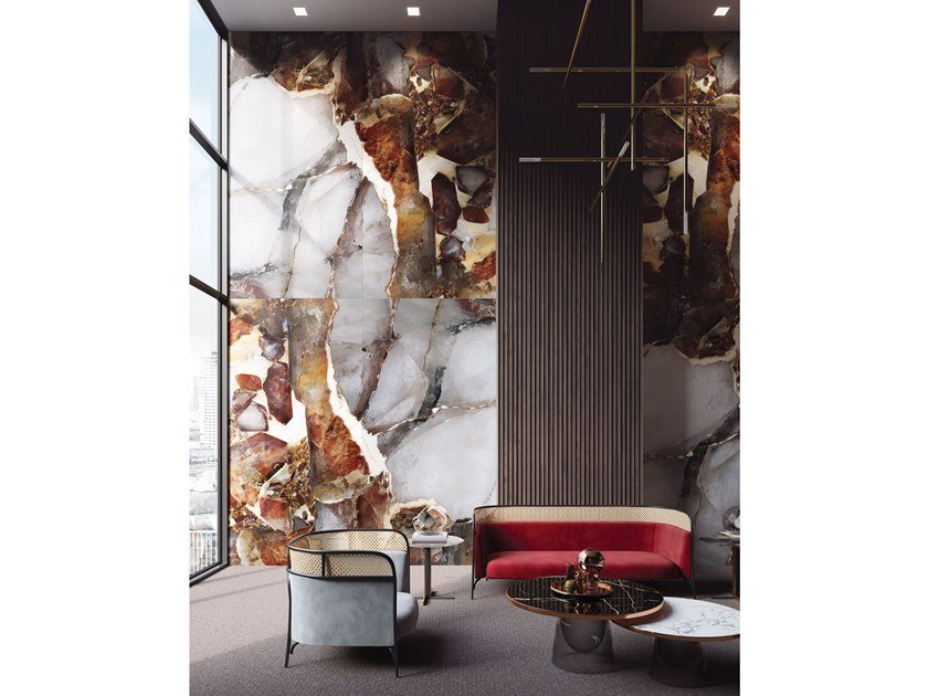 Resin Decorative panel PAPEETE by Tecnografica Italian Wallcoverings