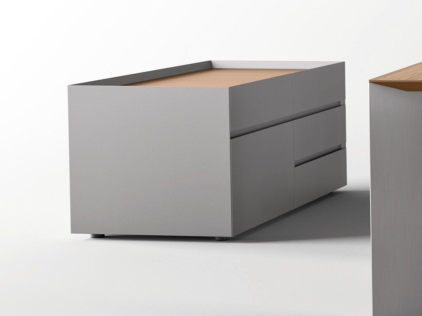 Aluminium office drawer unit PAPER | Office drawer unit by RENZ