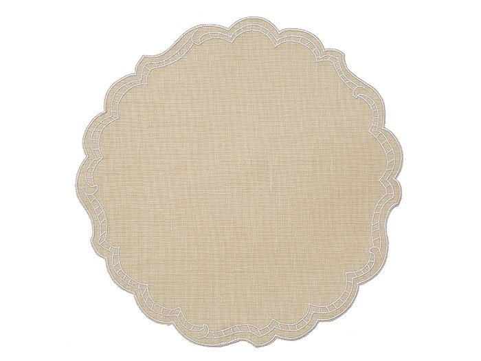 Round linen placemat, set of 6 PAPER | Placemat by La Gallina Matta