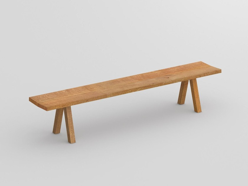 Solid wood bench PAPILIO | Bench by Vitamin Design
