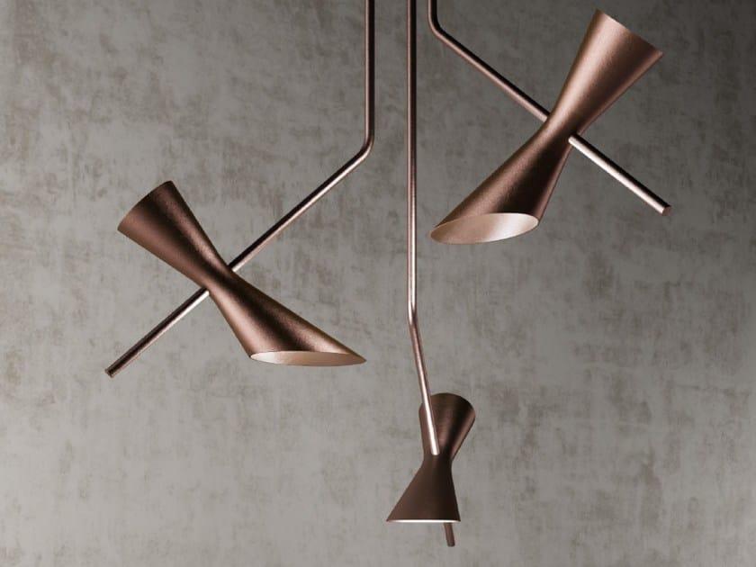LED direct-indirect light aluminium pendant lamp PAPILLON | Pendant lamp by NEXO LUCE