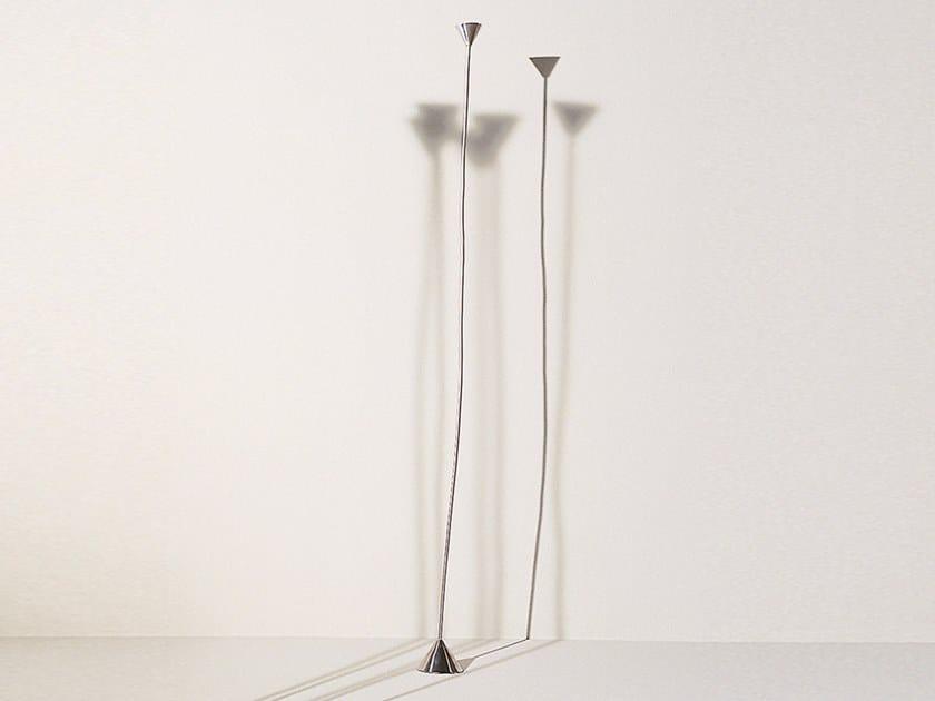 Nickel floor lamp with swing arm PAPIRO | Nickel floor lamp by Pallucco