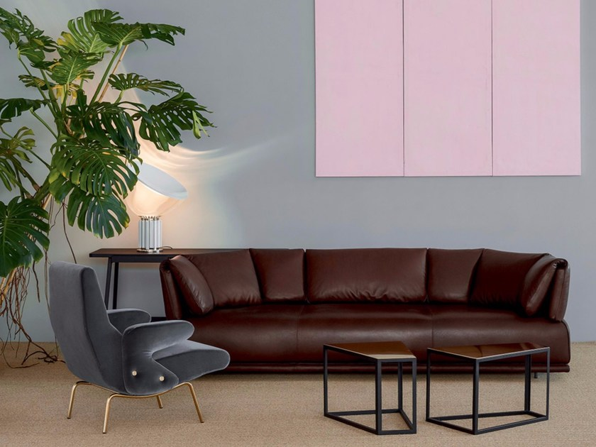 4 seater leather sofa PAPOOSE   Leather sofa by arflex