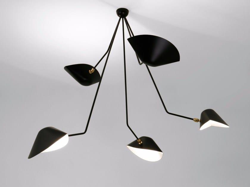 Lampada da soffitto orientabile in metallo PAR5BC | Lampada da soffitto by Serge Mouille