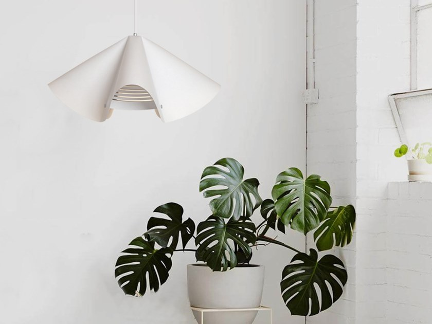 Lampada a sospensione a LED in carta giapponese PARABOLA by SMALL RABBIT DESIGN