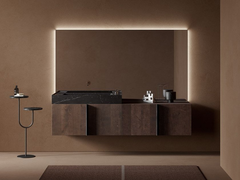 Mobile lavabo componibile in legno PARAL   Mobile lavabo in legno by INBANI