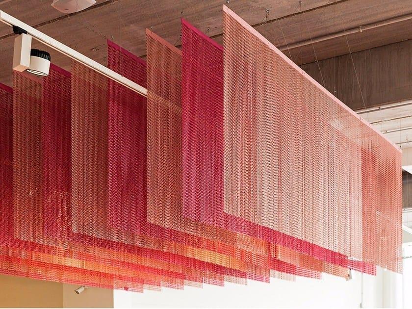 Aluminium chain curtain CEILING PARALLEL STRAIGHT by Kriskadecor