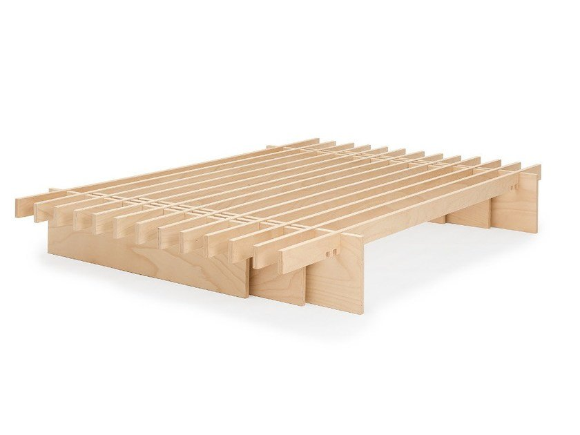 Trundle beech bed base PARALLEL by Tojo Möbel