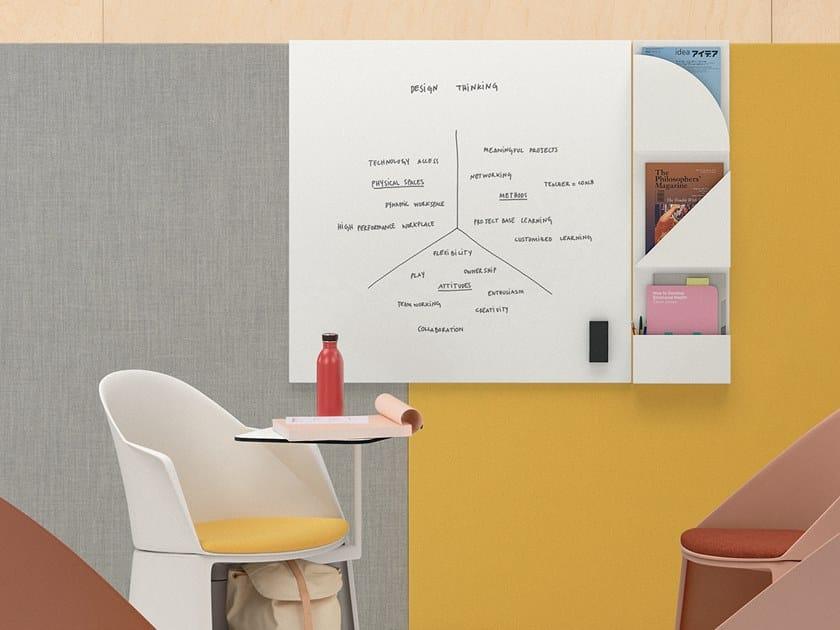 Wall-mounted plate office whiteboard PARAVAN MOOD | Office whiteboard by arper