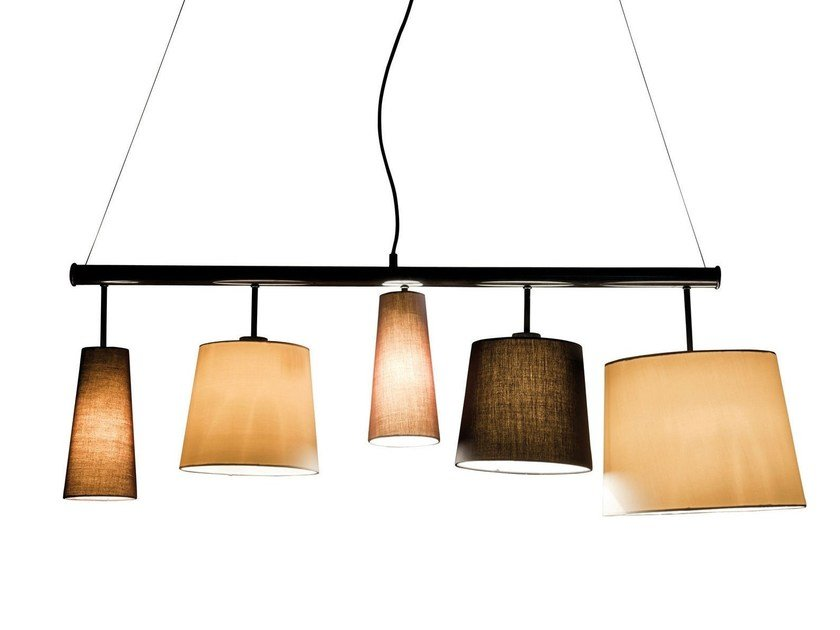 Indirect light fabric pendant lamp PARECCHI BLACK 140 by KARE-DESIGN