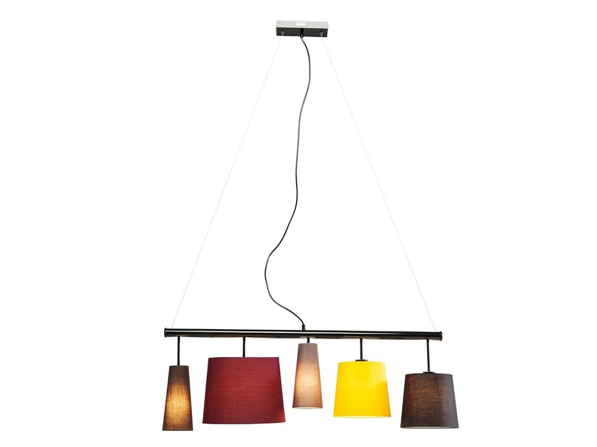 Indirect light fabric pendant lamp PARECCHI COLORE by KARE-DESIGN