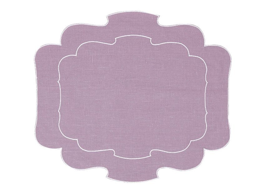 Linen placemat, set of 6 PARENTESI 800 | Placemat by La Gallina Matta