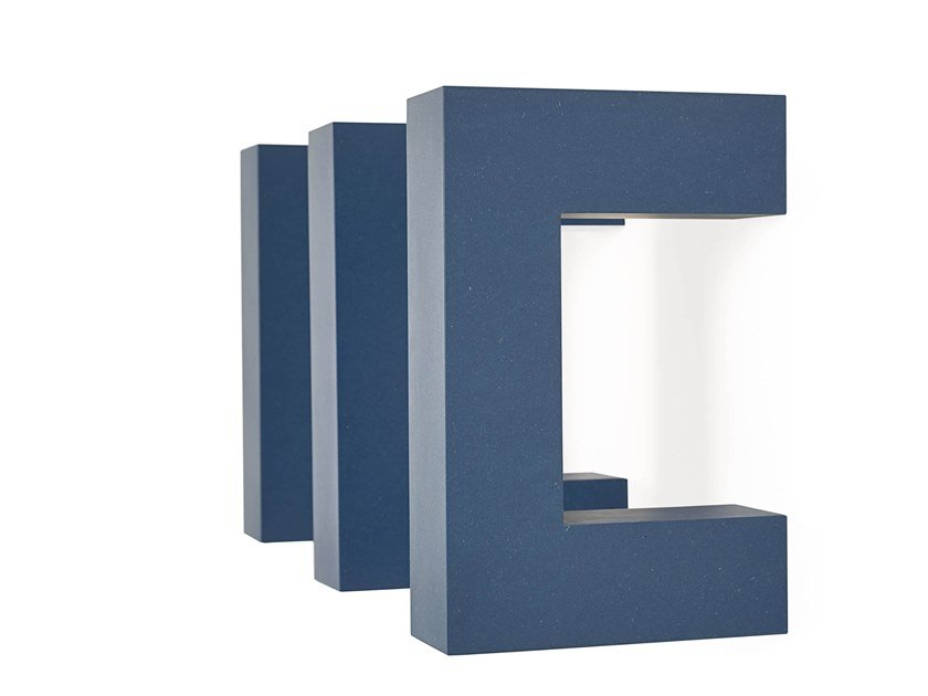 Valchromat® wall shelf PARENTESI by ARKOF LABODESIGN